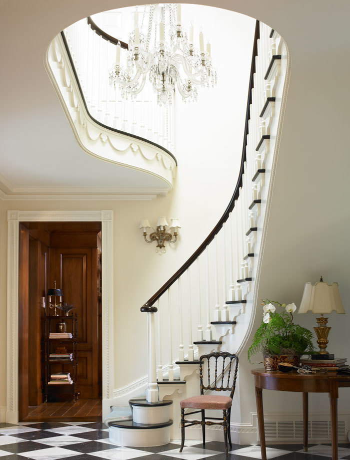 A tall upward sweeping staircase (Photo: Emily Followill)