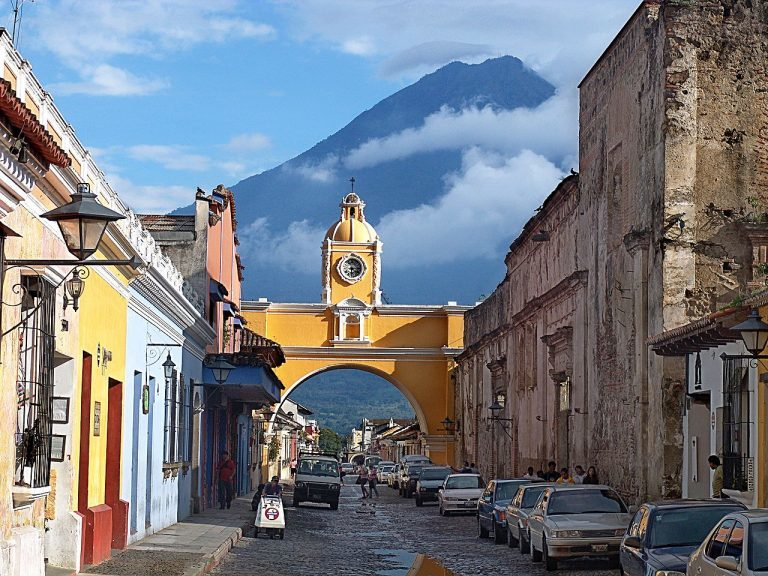 The Arch of the Old Convent of Santa Catalina in Antigua Guatemala is a source of inspiration for Rodrigo Bollat Montenegro