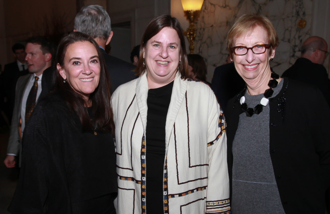 Kathryn Herman, 2018 Stanford White Awards Co-Chair Alice Kriz, and Barbara Sallick