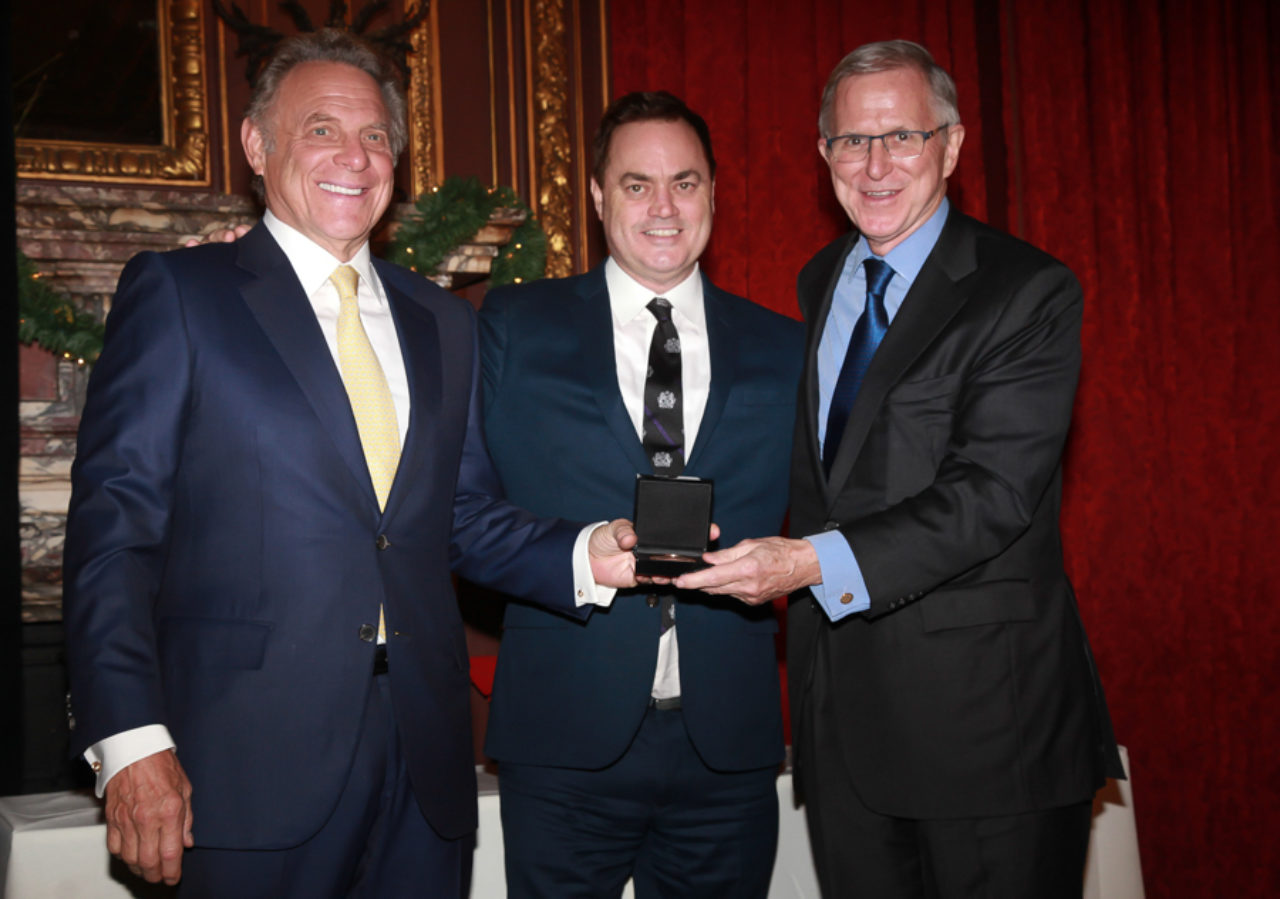 Stephen Meringoff, ICAA President Peter Lyden, and Sam White