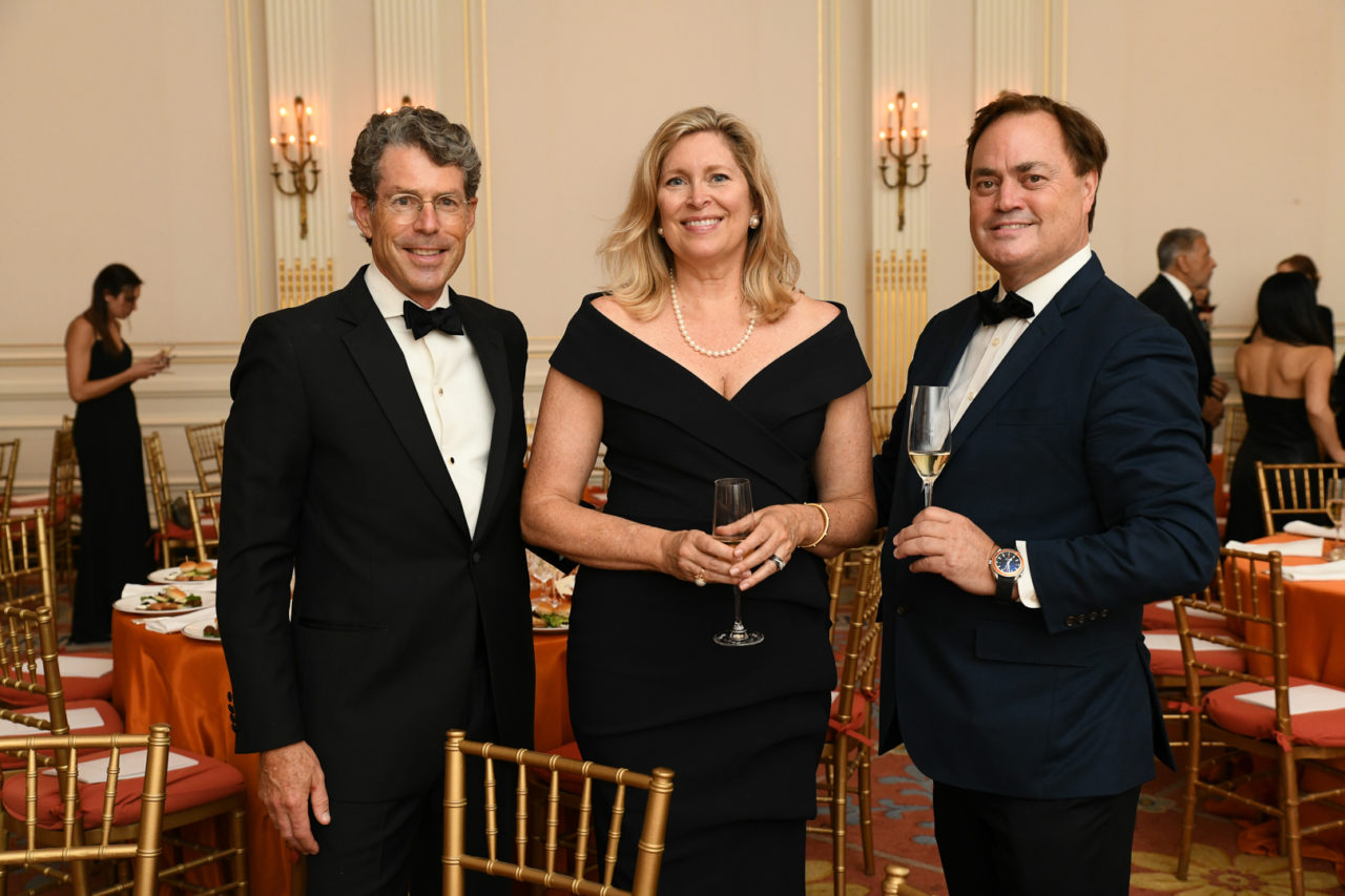 ICAA Board Member John Flower, Stephanie Flower, and ICAA President Peter Lyden