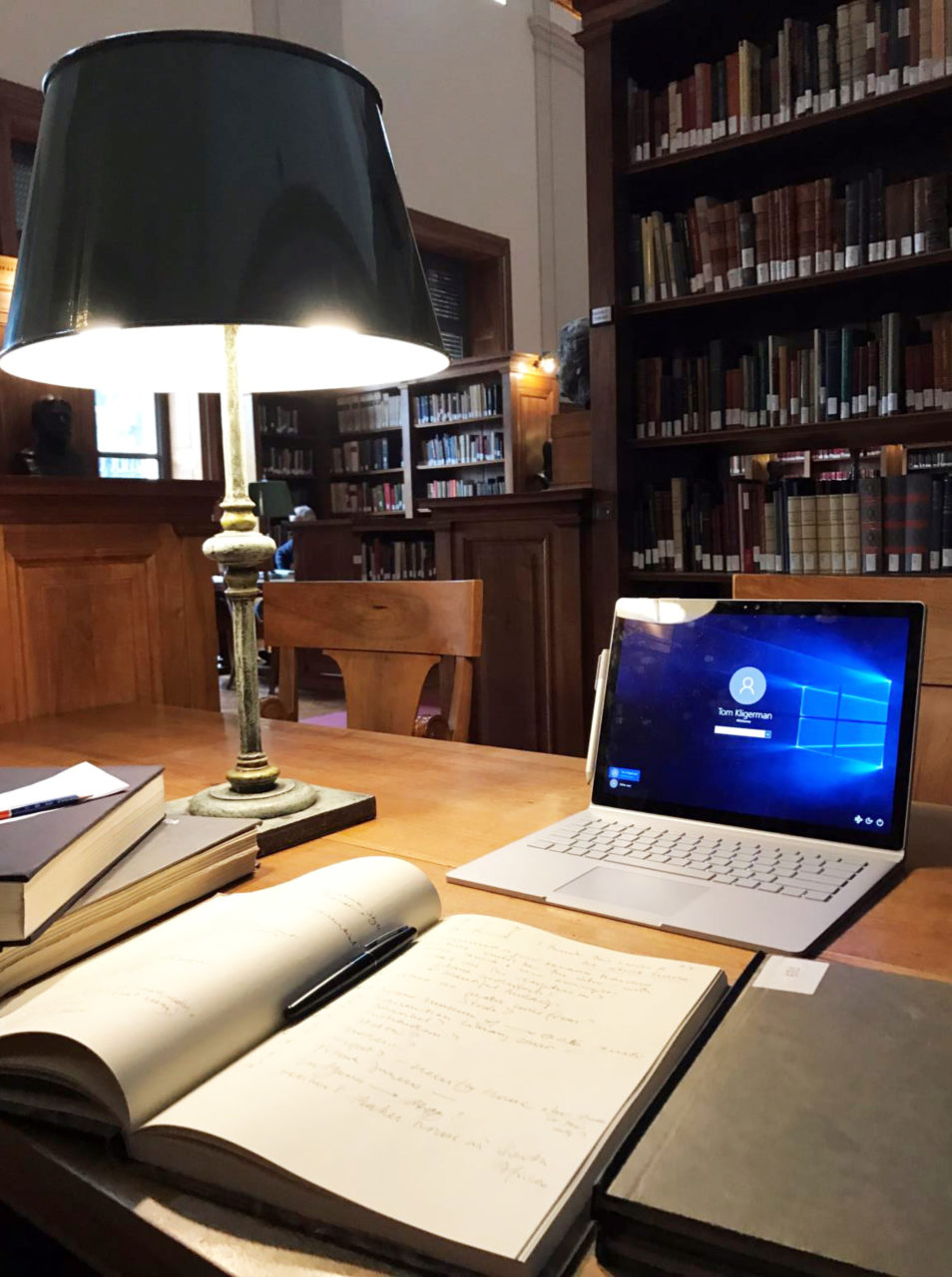 The library in the American Academy in Rome