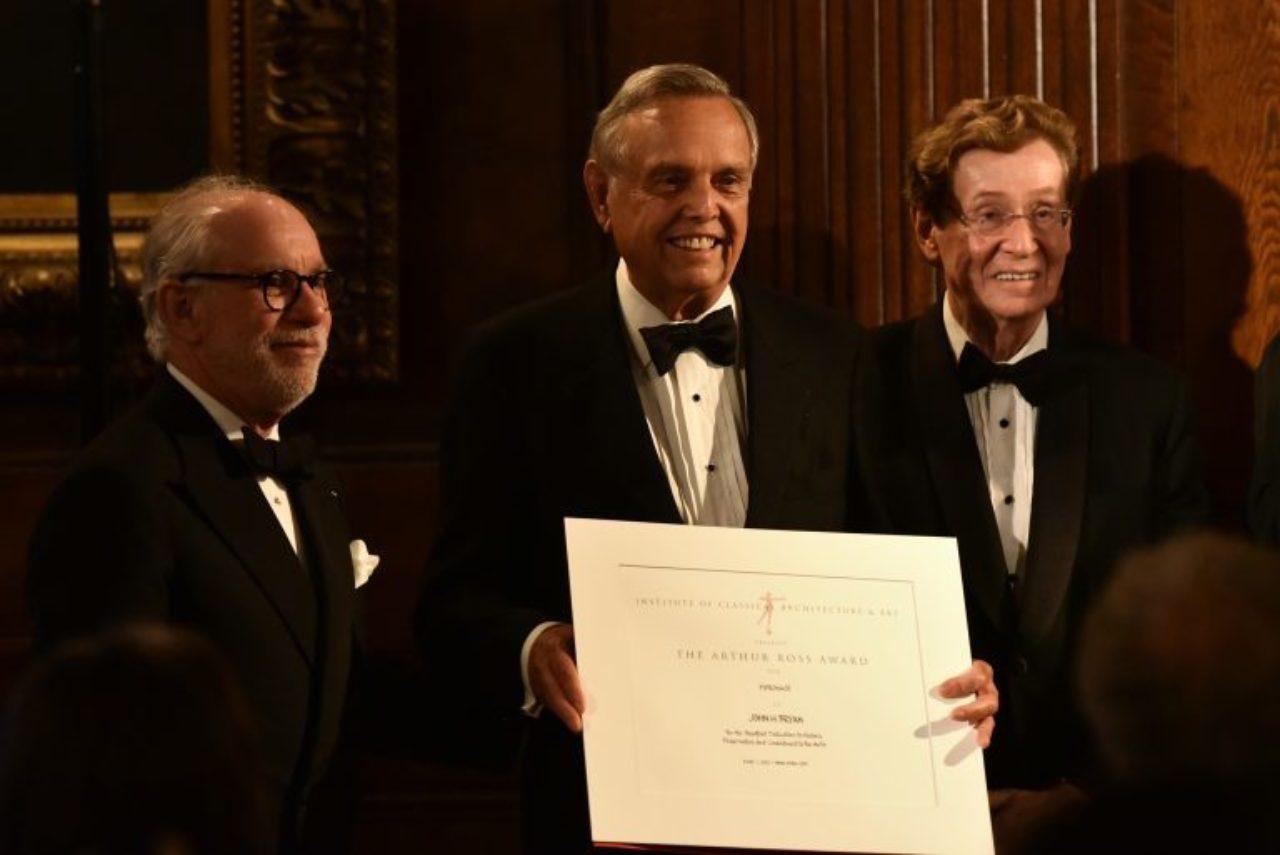 ICAA Board Member Andrew Skurman, 2017 Arthur Ross Award Winner (Patronage) John H. Bryan, and ICAA Board Member Richard H. Driehaus