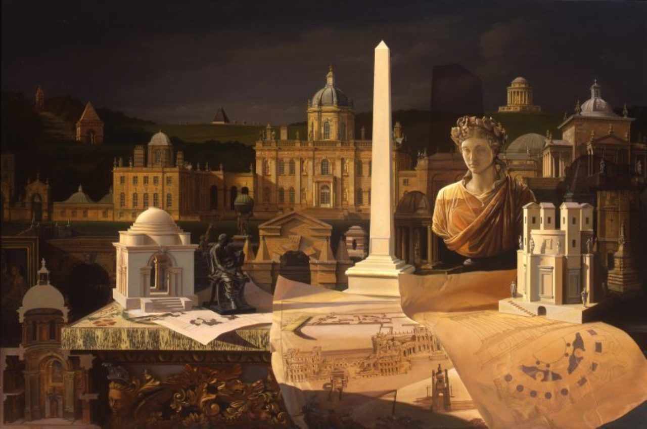 Castle Howard Capriccio, Carl Laubin, 122cm x 183cm, oil on canvas, 1996