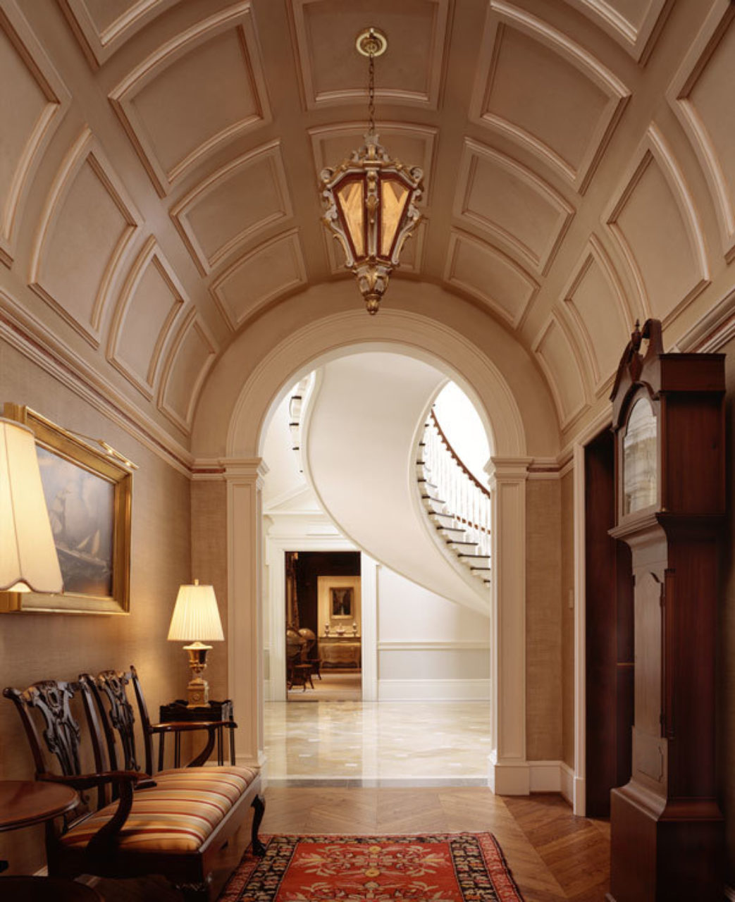 Classical Entry at a Macon, GA residence, designed by Norman Davenport Askins (Photo Credit: Brian Gassel)