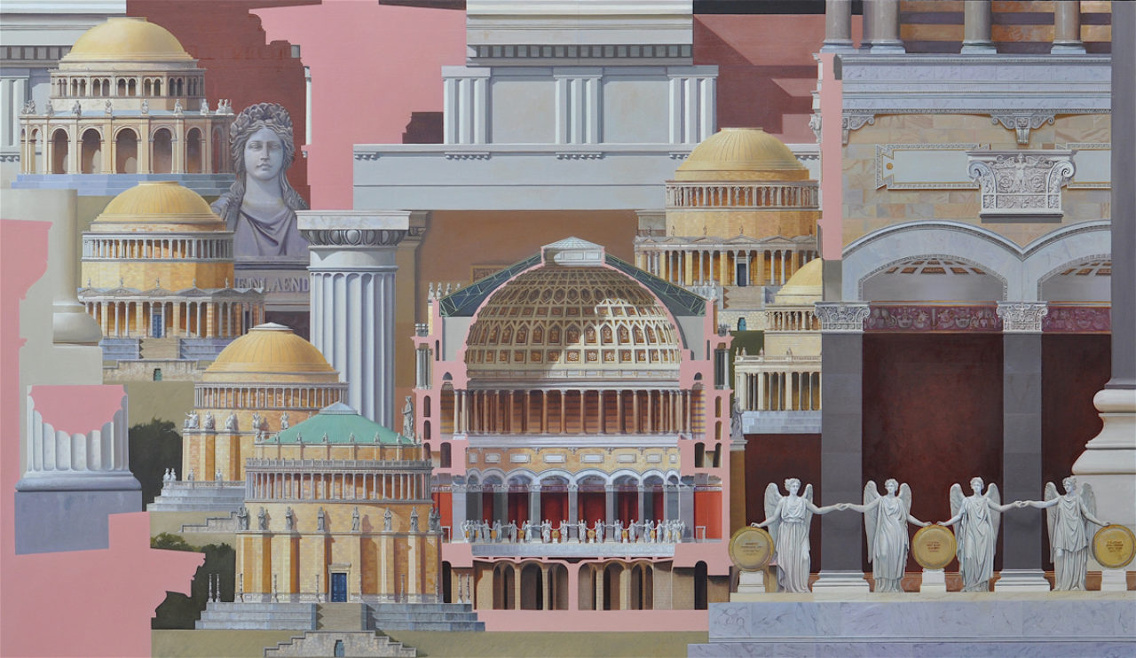 Befreiungshalle, 110x190cm, oil on canvas, 2016