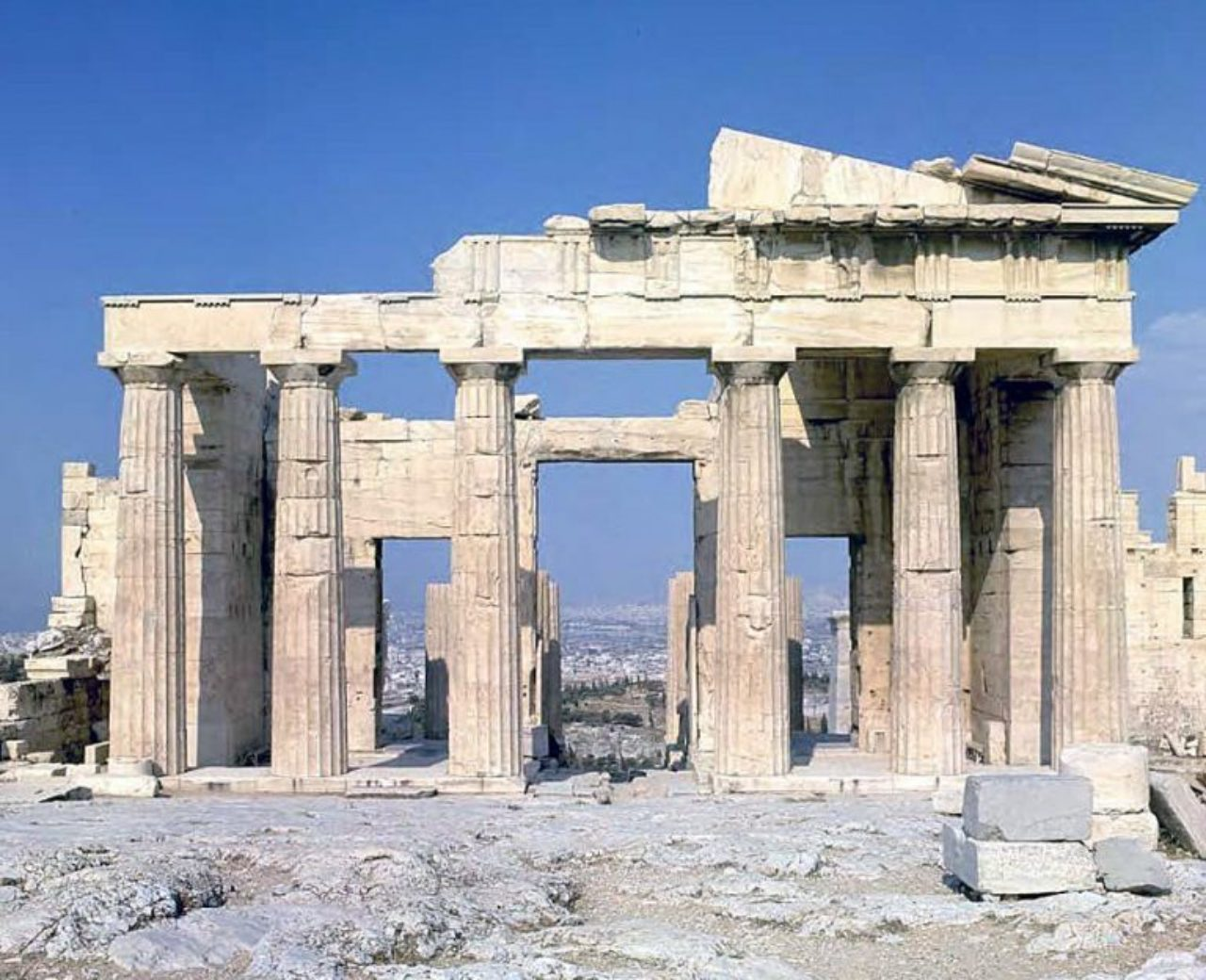 Figure 5: Propylaea, east elevation (Sandyblue)