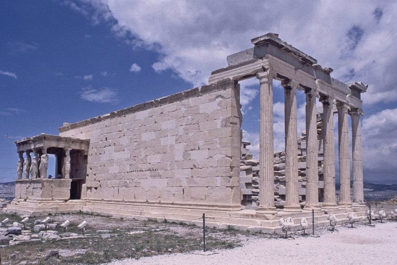Figure 9: Erechtheion, showing east portico and Caryatid porch