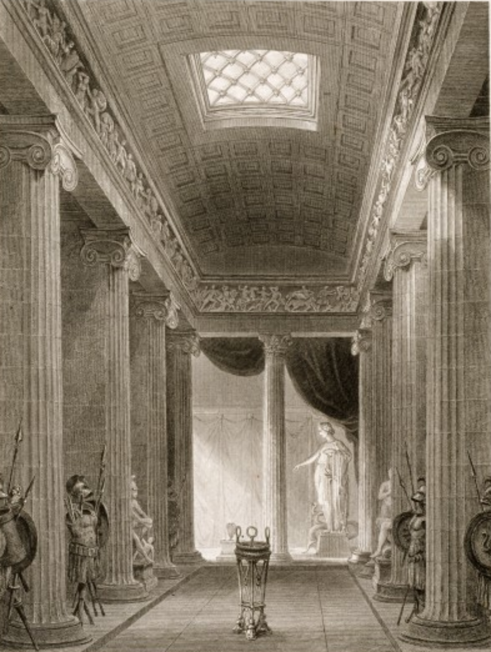 Figure 16: Temple of Apollo Epicurius, conjectural interior view by Charles R. Cockerell, 1860. (Wikipedia Images)