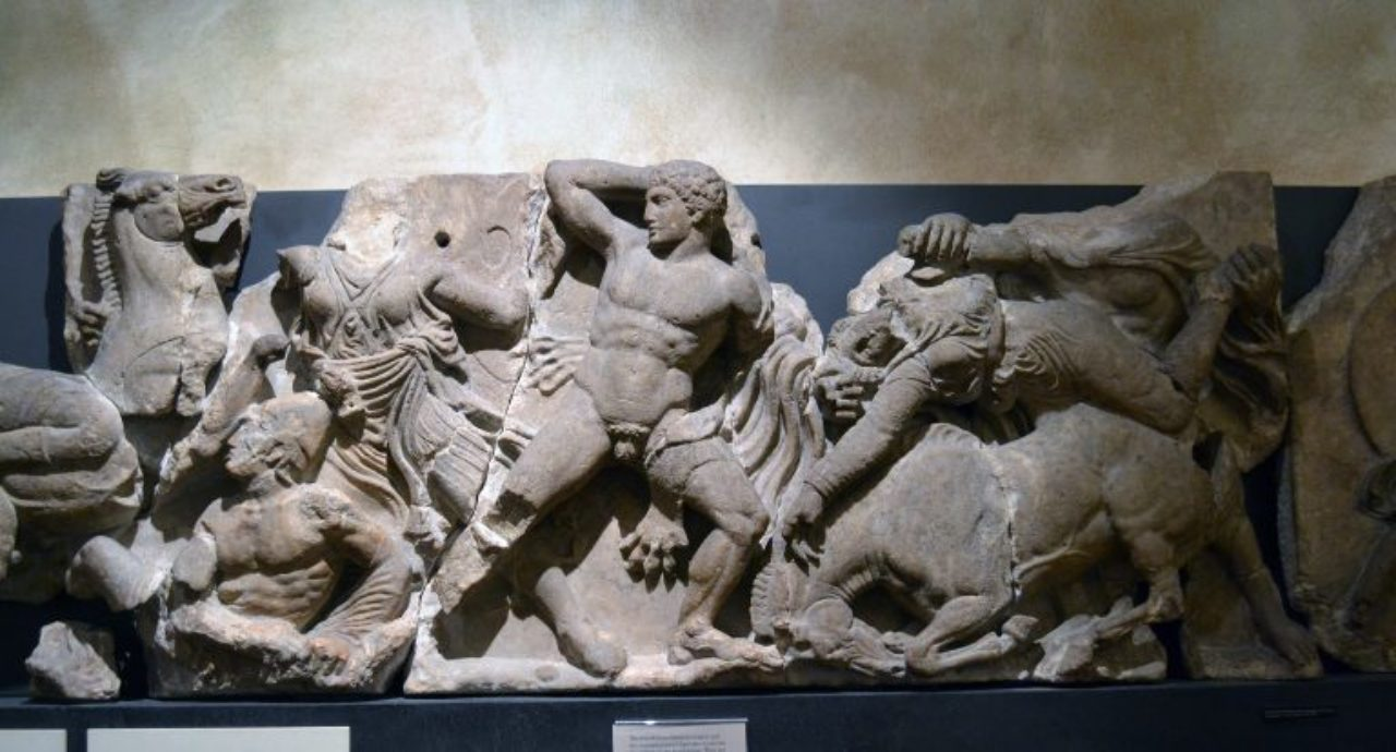 Figure 17: Temple of Apollo Epicurius, section of the interior frieze