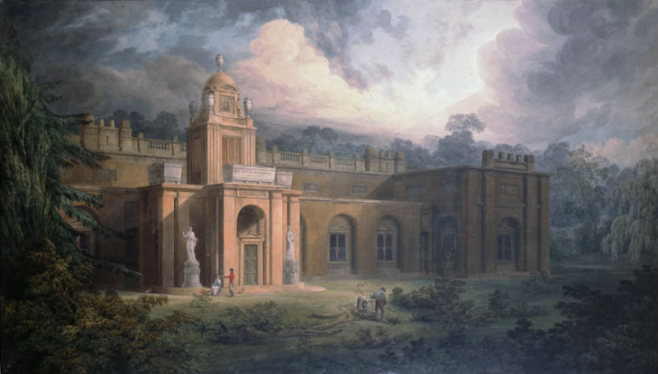 Joseph Michael Gandy, Preliminary Design by Sir John Soane for Dulwich College Picture Gallery: The West Front
