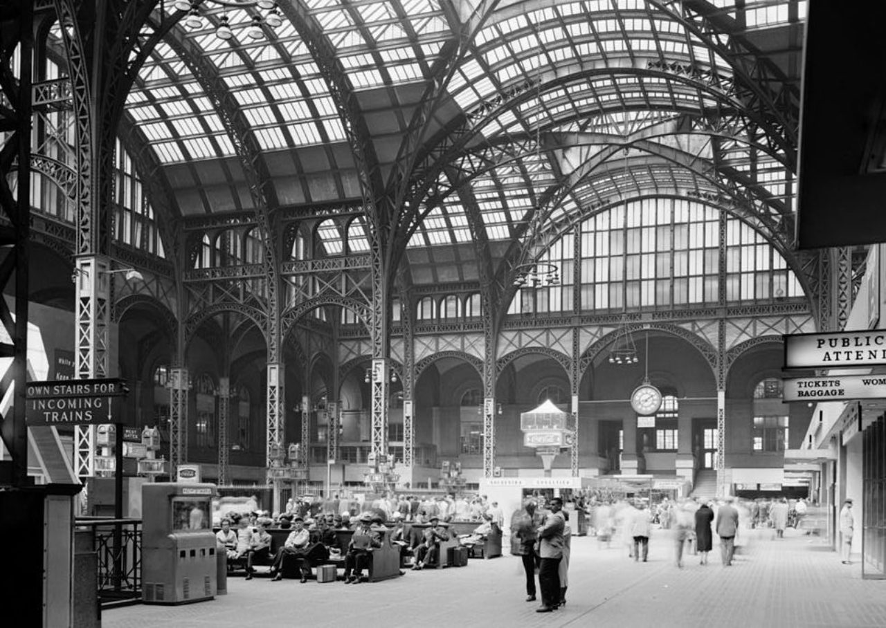 Photograph of the original Pennsylvania Station, New York, NY (Image: Library of Congress)