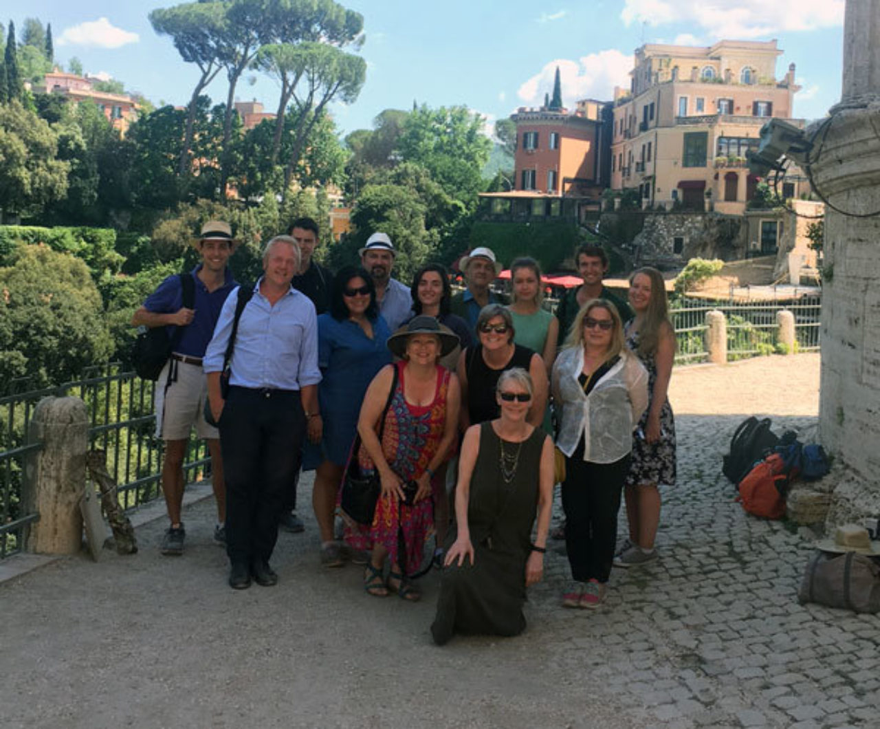 The tour group at Tivoli