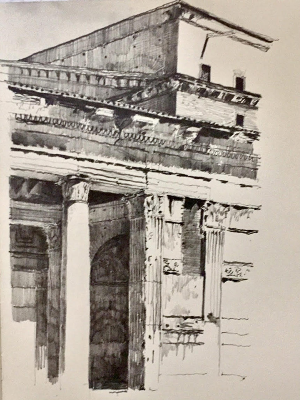 Tour participant Martin Burns' pantheon sketch