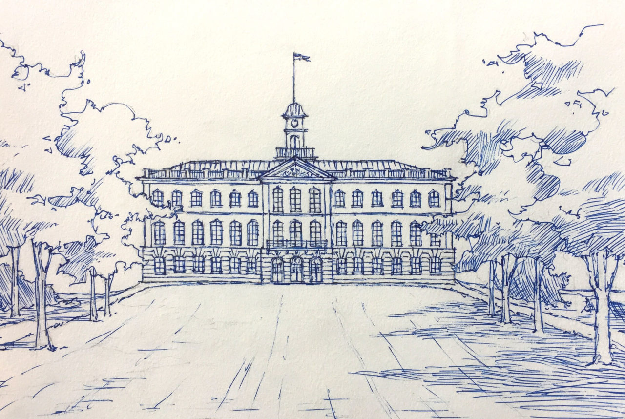 Sketch of Tullgarn Palace by Mark Kline