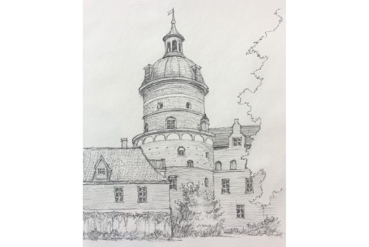 Sketch of Gripsholm Castle by Mark Kline