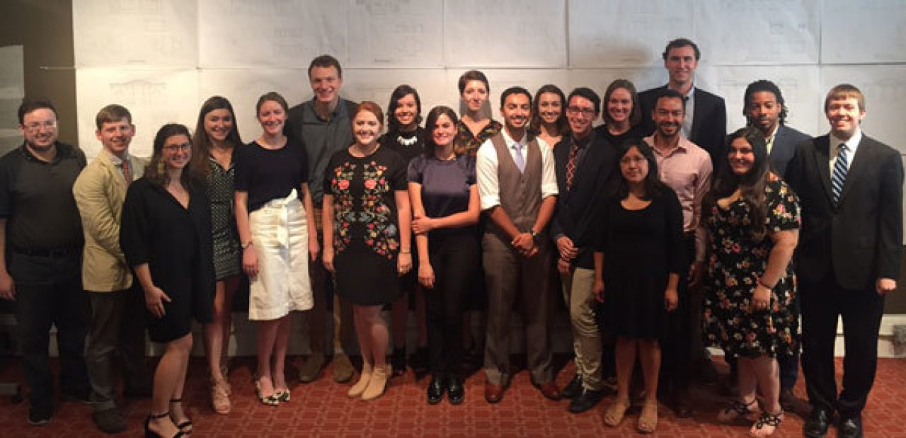 The Summer Studio students in front of their major projects