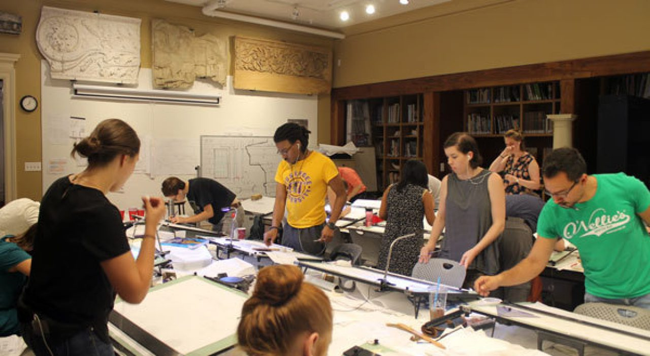 Students finalize their major projects in the studio