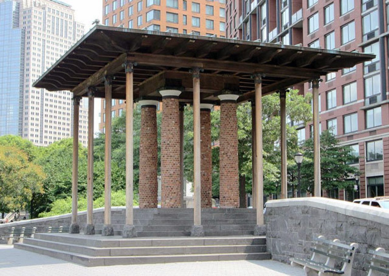 The Battery Park City Pavilion, designed by Demetri Porphyrios (Source: Wikipedia)