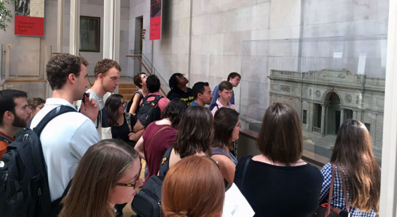 Students at The Morgan Library and Museum
