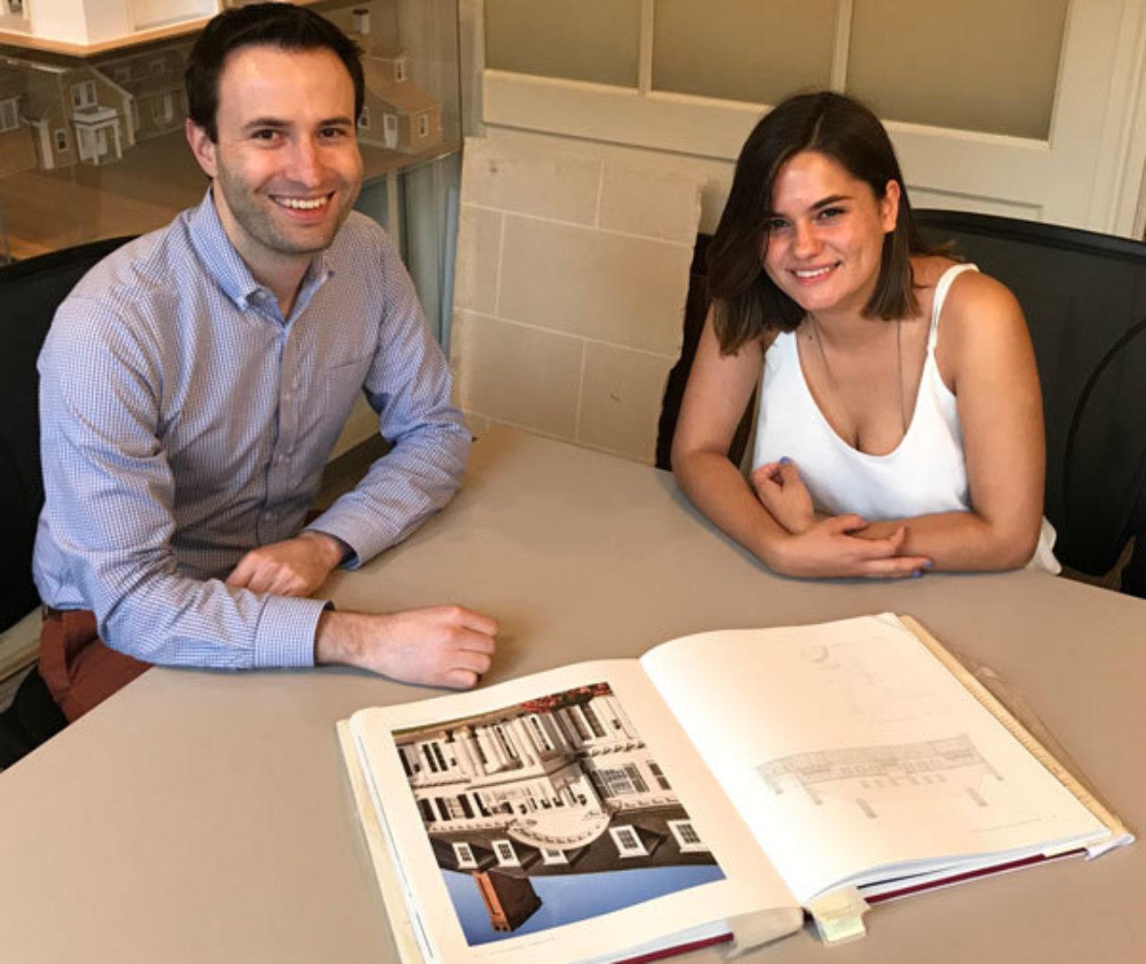 Mentor Rodrigo Bollat Montenegro with student Fionna Banchs Rios