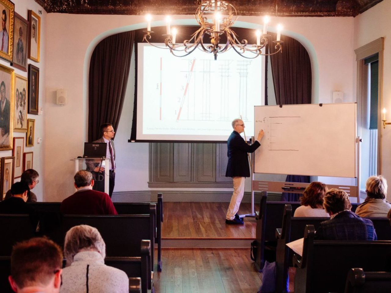 Martin Brandwein draws an example for the Classical Primer lecture