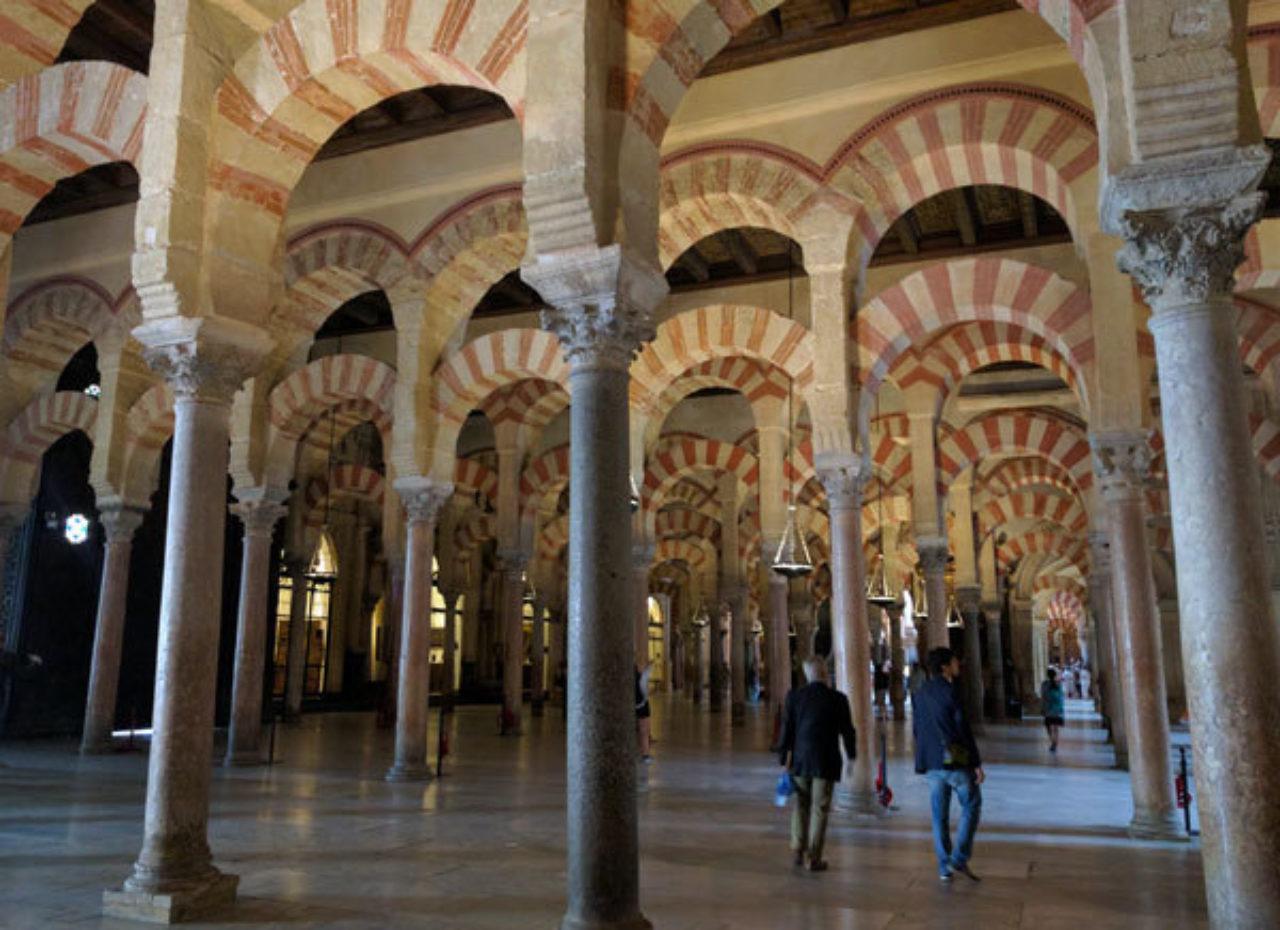 The famous horseshoe arches of La Mezquita