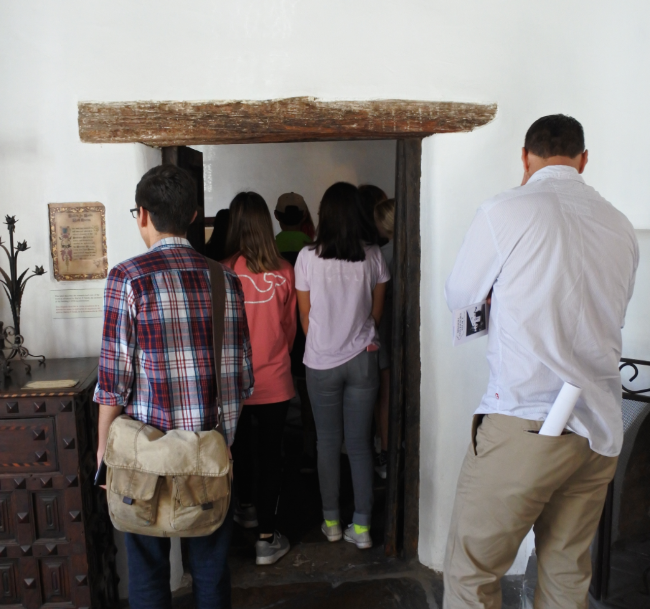 Students tour an historic interior