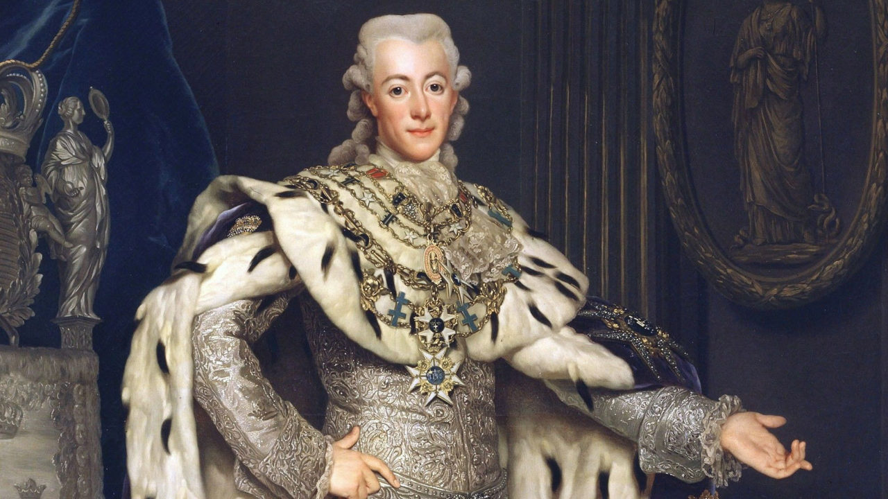 Portrait of Gustav III, King of Sweden (1771-1792), by Alexander Roslin