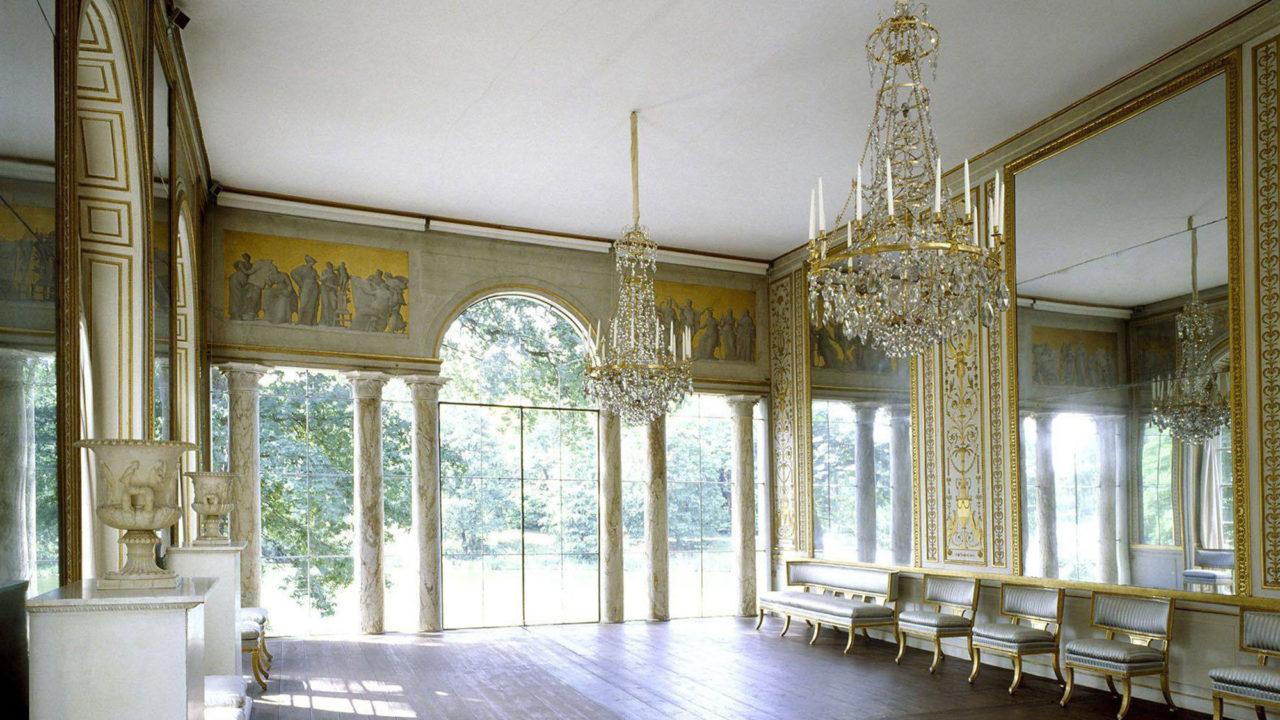 The mirrored gallery at Gustav III's Royal Pavilion at Haga Park