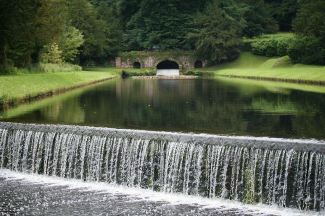 Water gardens at Studley Royal (Image Source: Gardenvisit.com)
