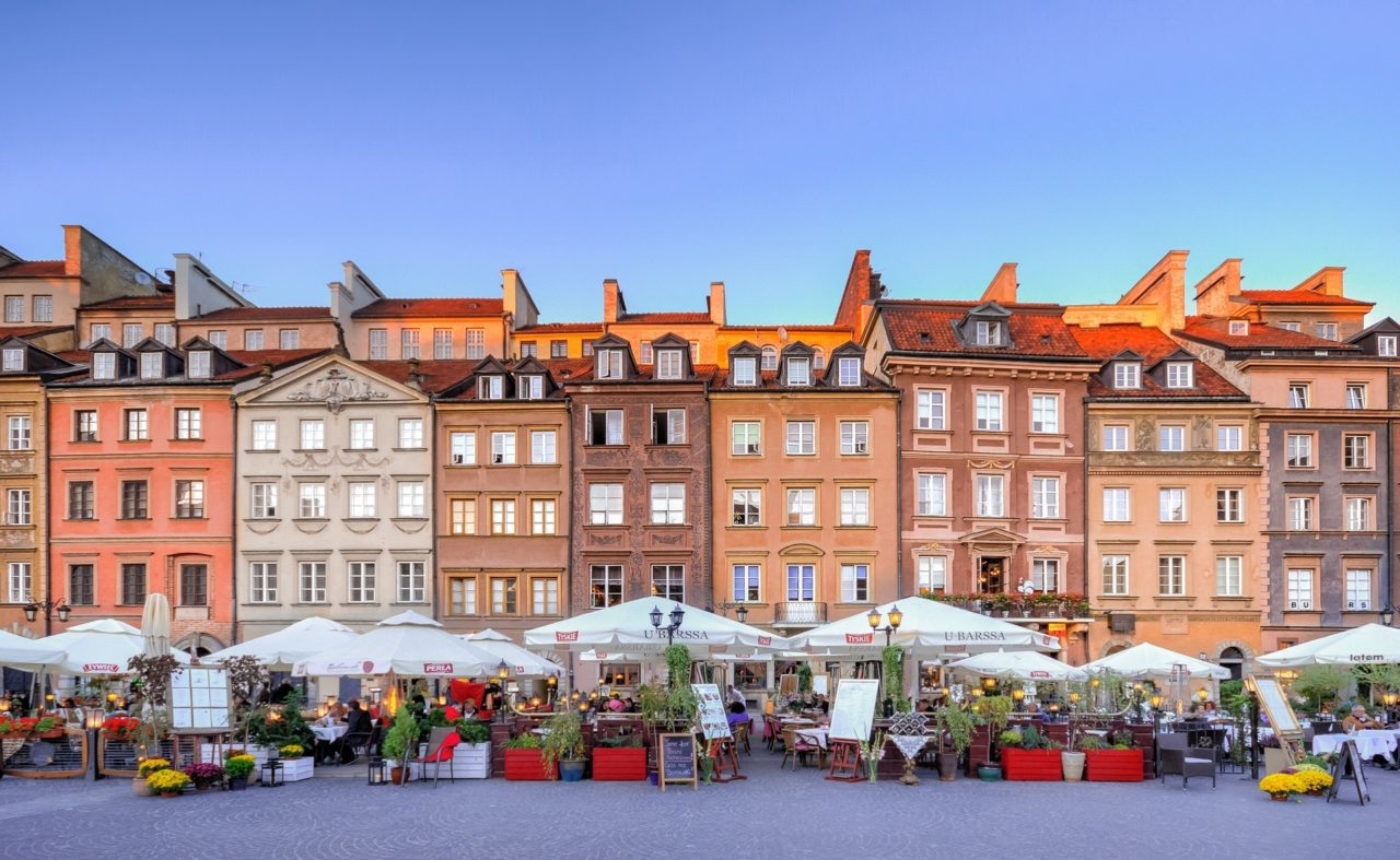 Reconstruction of Old Town Market Square, Warsaw, Poland