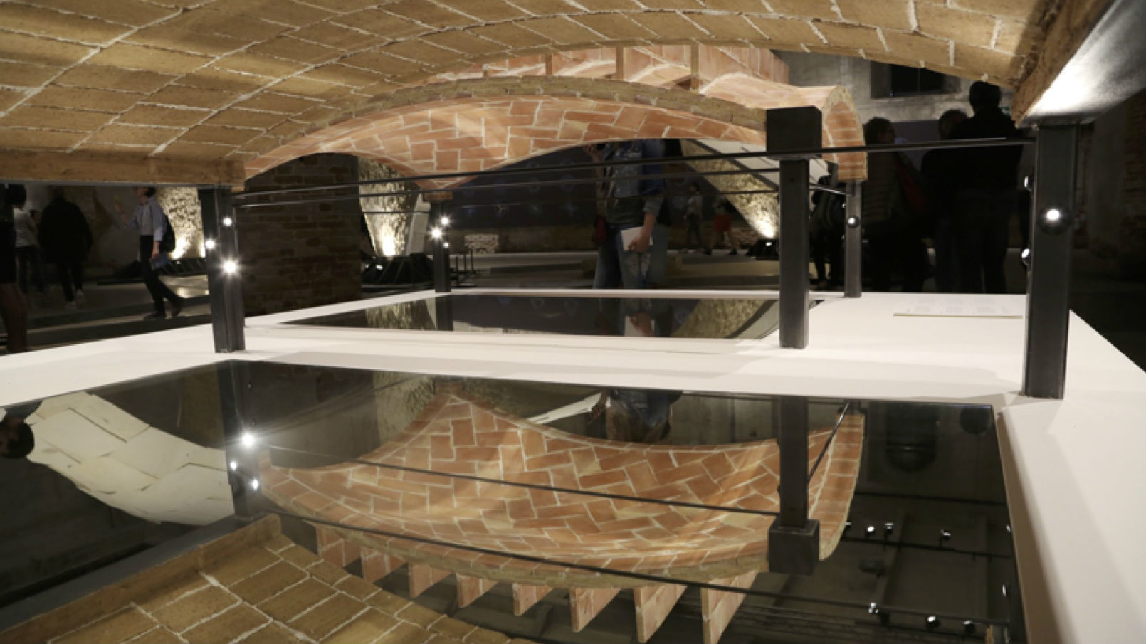 Tile vault floor prototypes from Beyond Bending - exhibition at Venice Biennale 2016