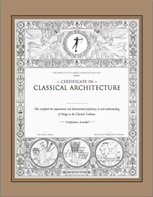 The Certificate In Classical Architecture Program Provides Architects And  Designers With A Working Knowledge Of Classical Architectural Design As A  ...