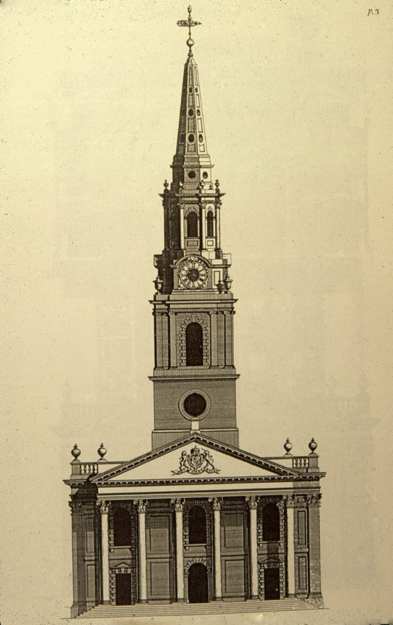 St. Martin-in-the-Fields, Plate 3: James Gibbs, A Book of Architecture