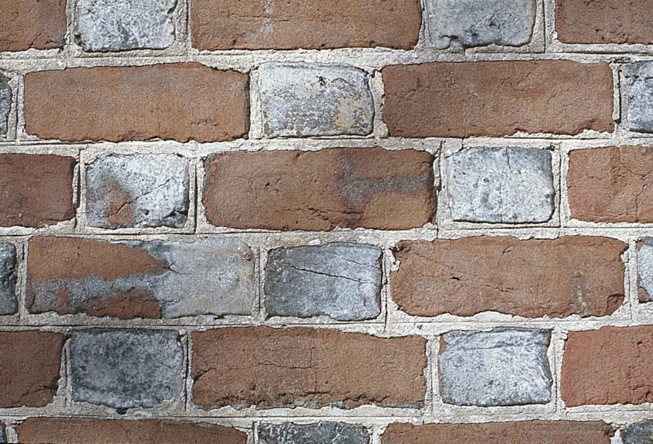 Figure 8: St. John's Church, King William County, Virginia, detail of south wall (Loth)