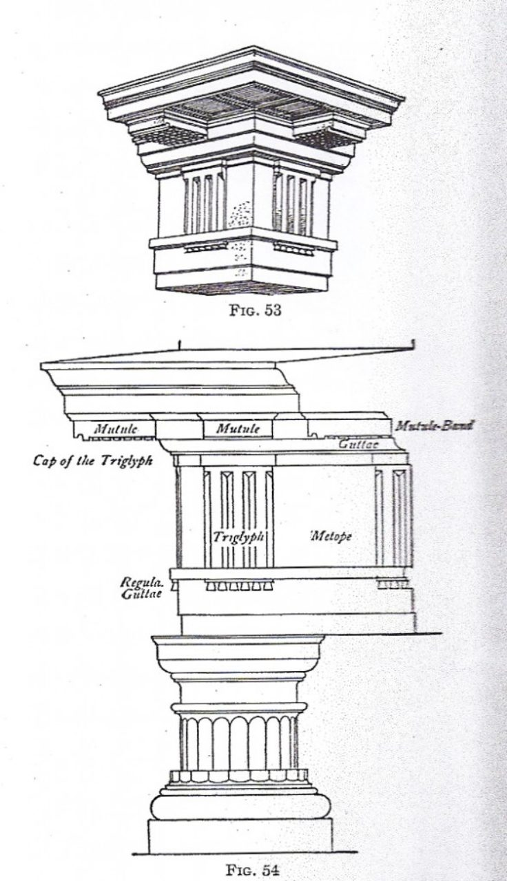 Figure 13, The Mutulary Doric, William R. Ware, The American Vignola, fifth edtion, p. 12.