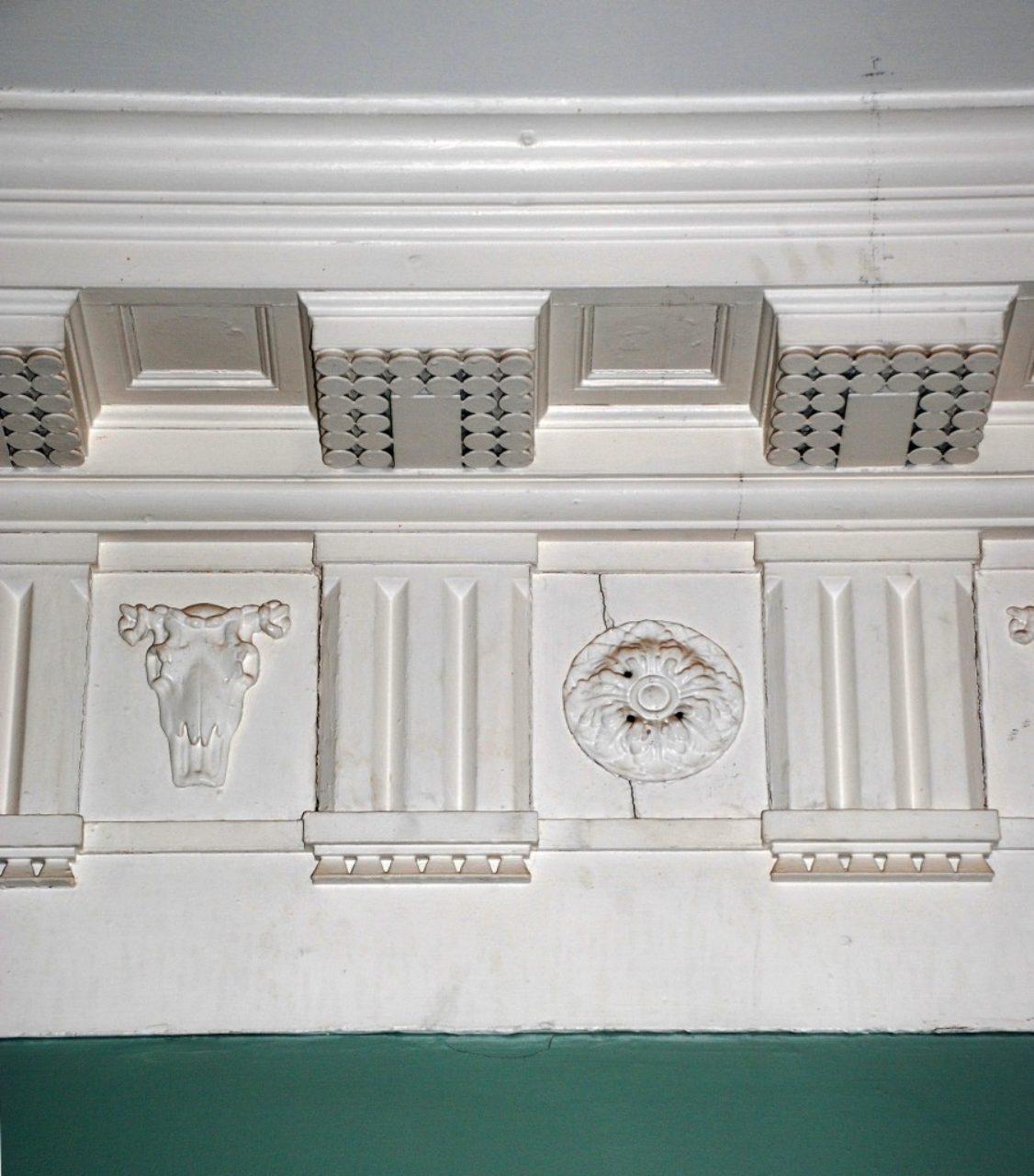 Figure 7, Parlor entablature, Pavilion II, University of Virginia.