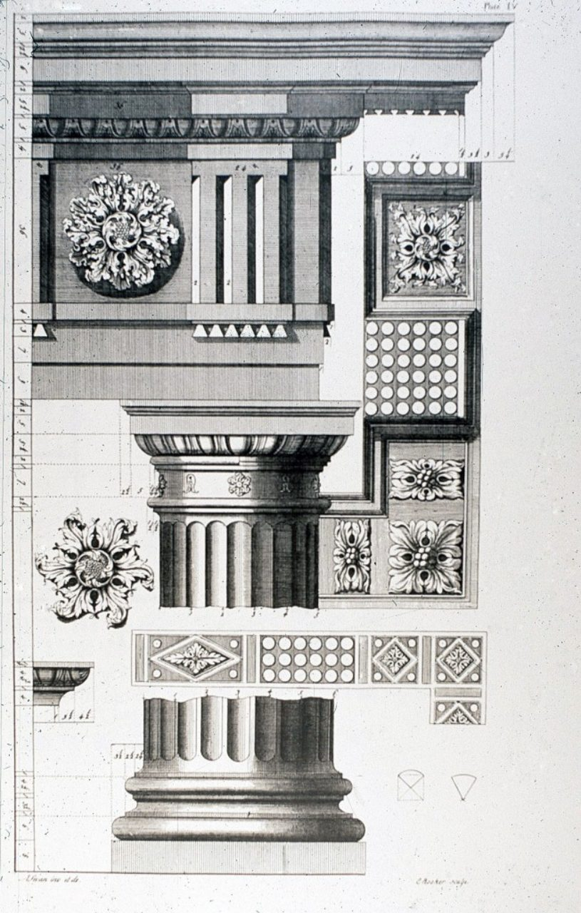 Figure 8, Plate IV, Abraham Swan, The British Architect.