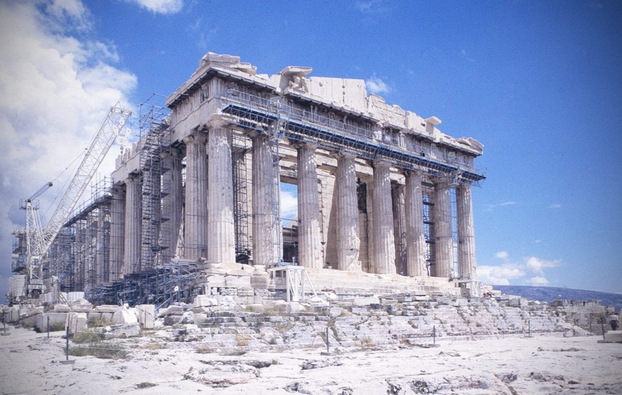 Figure 1. The Parthenon undergoing long term repair. Loth 1024x651 the parthenon and its derivatives institute of classical