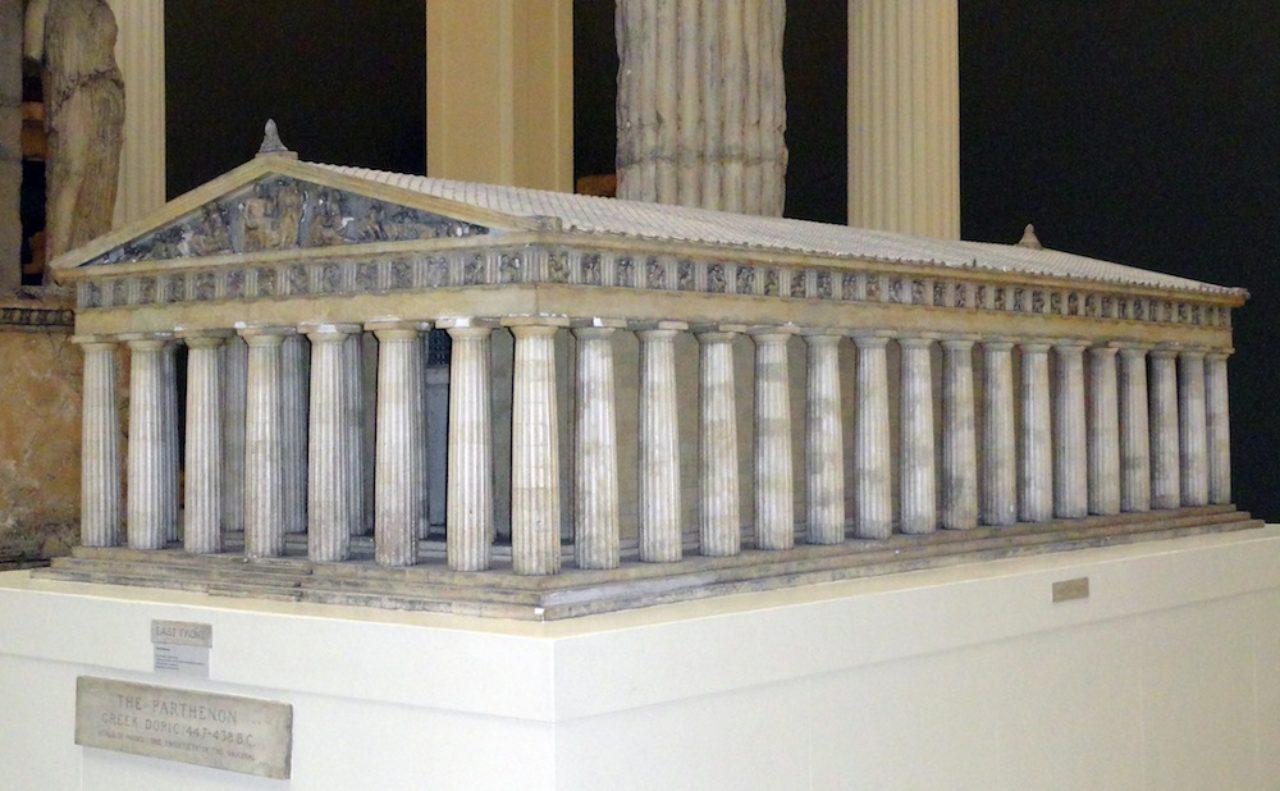 Parthenon plaster case
