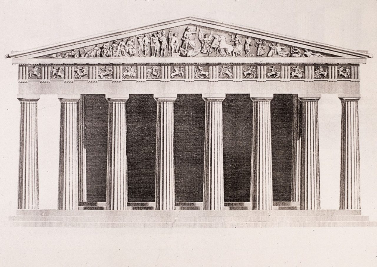 Parthenon restored elevation