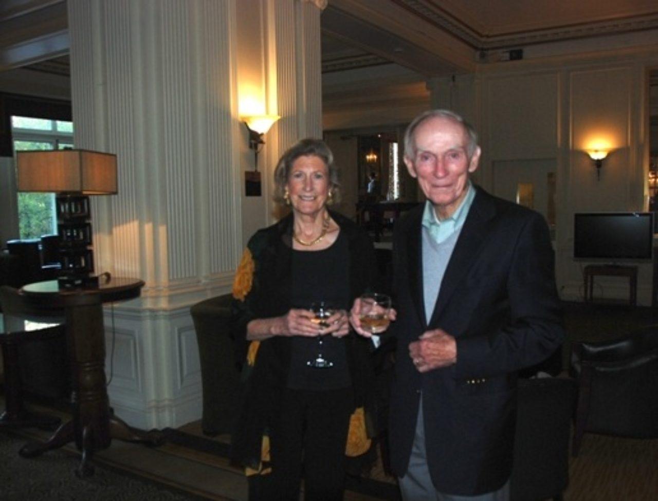 Edith Bingham and Al Shand at Caledonian Hotel