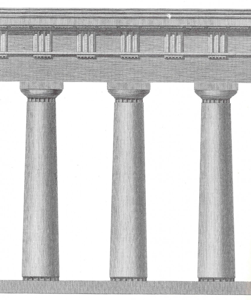 Figure 4. Doric of the Temple of Apollo at Delos, The Antiquities of Athens, Vol. III: Chapter X, Plate 1