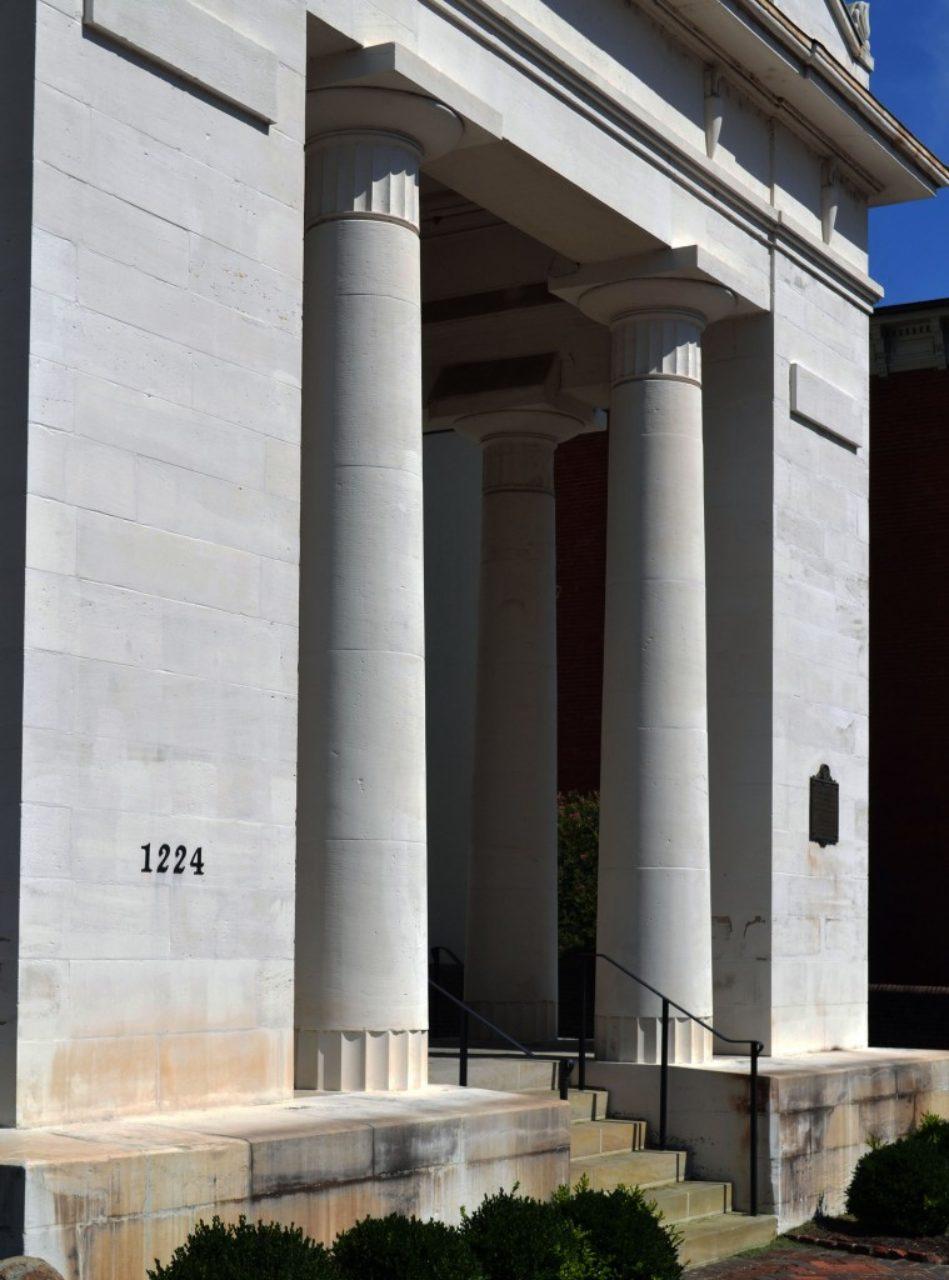 Portico columns