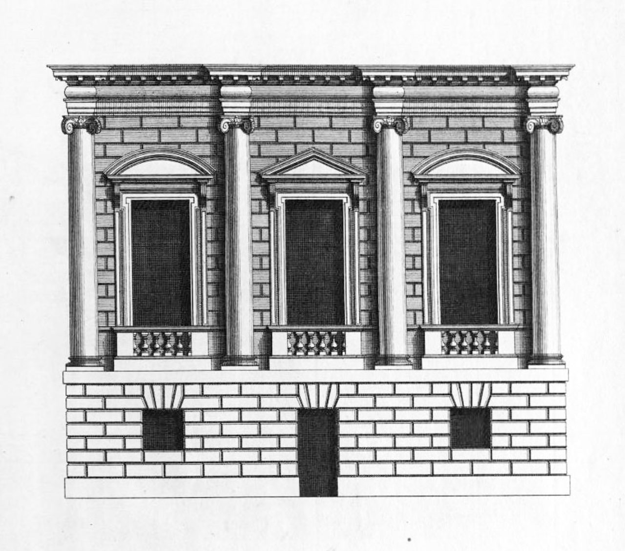 Figure 9. Plate 38, Designs of Inigo Jones with some Additional Designs
