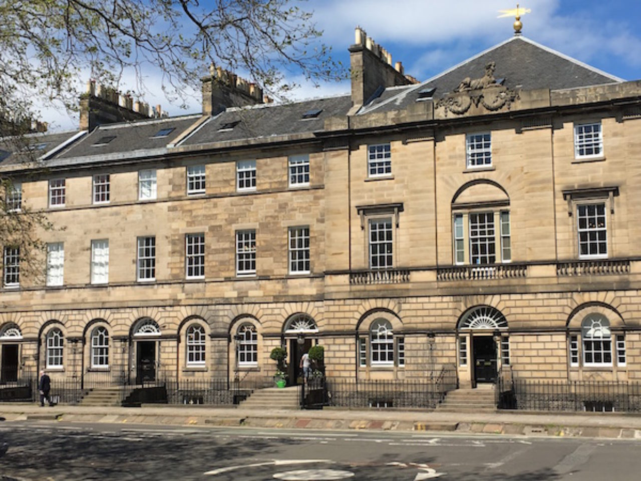 "A photo from Charlotte Square, conceived by architect Robert Adam at the end of the 18th Century as part of the ""New Town"" development project in Edinburgh"