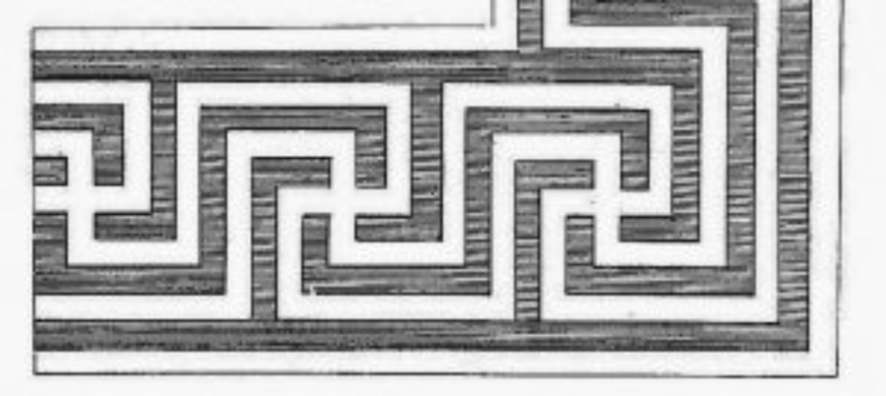 Figure 1: The Complex Greek Meander: Abraham Swan, The British Architect, (1758), Plate LV (detail).
