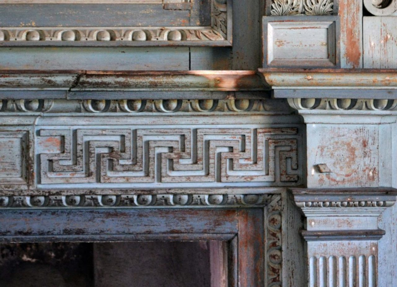 Figure 11: Hall chimneypiece detail, Drayton Hall; near Charleston, South Carolina (Loth).