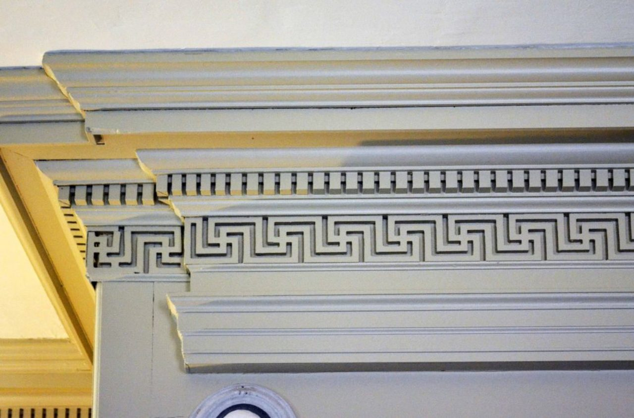 Figure 12: Frieze detail, Shirley Plantation House; Charles City County, Virginia (Loth).